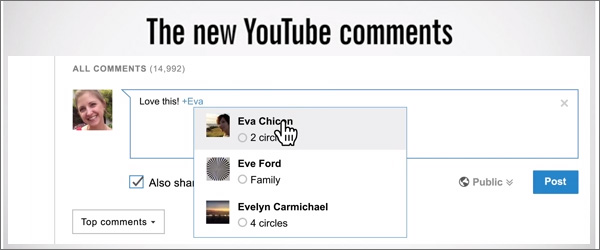 YouTube's commenting system based on Google