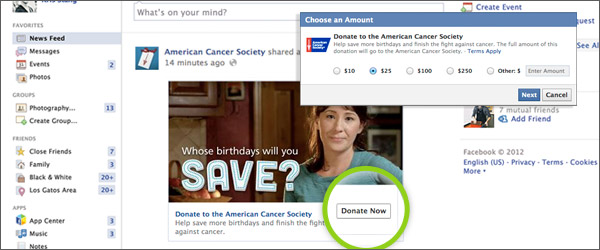 donations-via-social-media