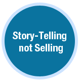 story telling not selling