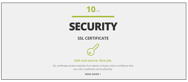 Make sure your website is secure for users to browse and share personal details.